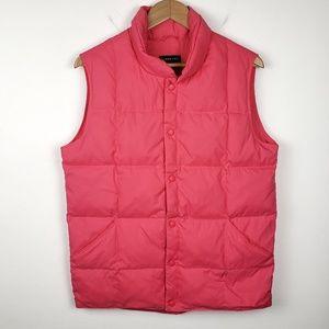 Land's End | Pink Goosedown Filled Puffer Vest XL
